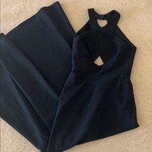 BCBGMaxAzria Dresses - BCBG Max Azria Cut Out Black Prom Gown